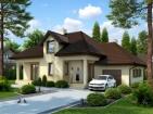 Проект стильного жилого дома мансардой